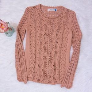 🍁Anthropologie Sparrow Blush Pink Knit Sweater🍁
